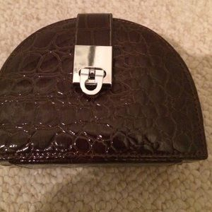 Faux croc travel jewel bag.