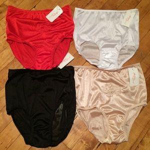 55ddc87a8f8b Teri Intimates Intimates & Sleepwear - Teri Full Cut Nylon Brief 4 Pack  Panty Set