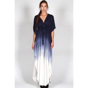 "X ""Horizon"" Maxi Ombré Kimono Dress"