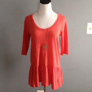 Anthropologie left of center girlie skirted top