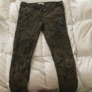 Zara demin pant in army print