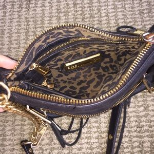 Rebecca minkoff black leather bag