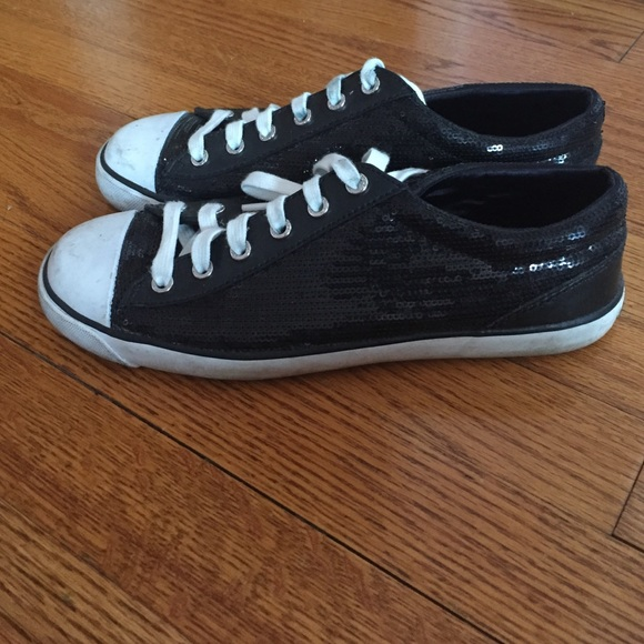 83% off Coach Shoes - Coach black sequin sneakers from ...