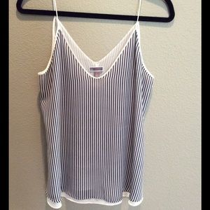 NWOT Blue and White Tank