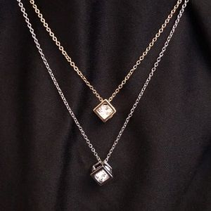 Accessories - Crystal Cube Necklace