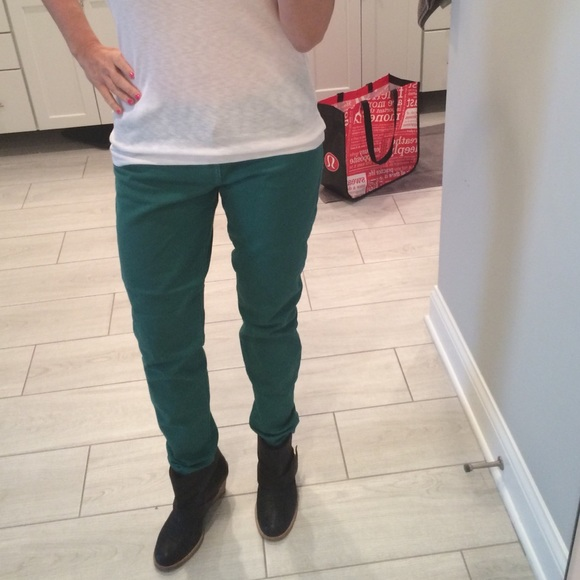 Current/Elliott Denim - Current/Elliott green skinny jeans sz 29