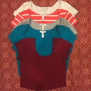 Ambiance Apparel Tops - Set of 5 crop tops