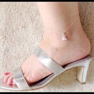 Jewelry - Brand New Sterling Silver Crystal Anklet