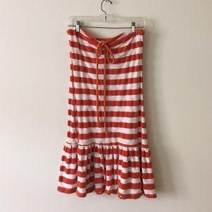TWISTED HEART Dresses & Skirts - Twisted Heart Drop Waist Orange White dress