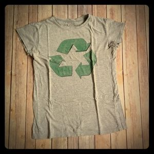 Grey and Green Recycle T-Shirt