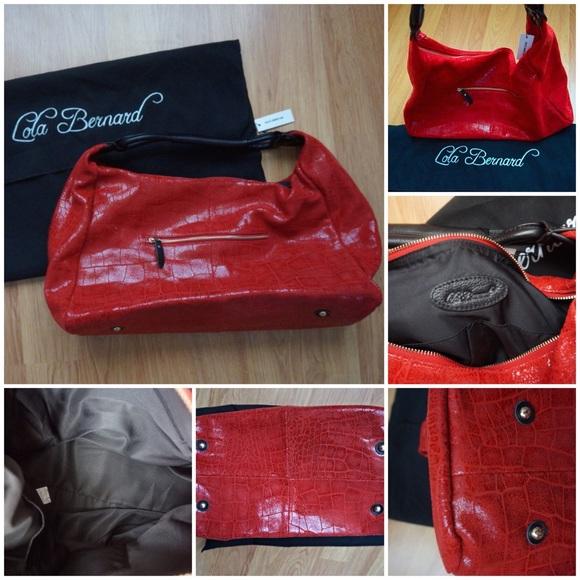 "Lola Bernard Handbags - Lola Bernard ""Modena"" hobo style handbag"