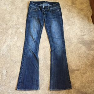 Low rise jeans- stretchy material!