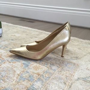 Brand New Gold J Renee Leather Heels