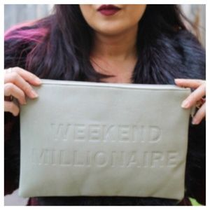 Faux Leather WEEKEND MILLIONAIRE Clutch
