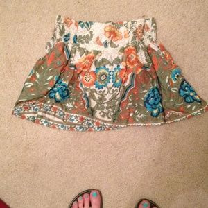 Super short bohemian skirt.