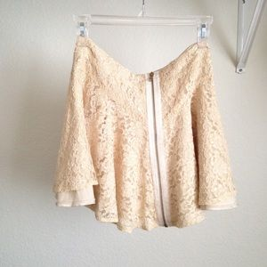 Zip Up Lace Skirt