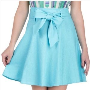 Modcloth Musee Cantini light blue skirt small