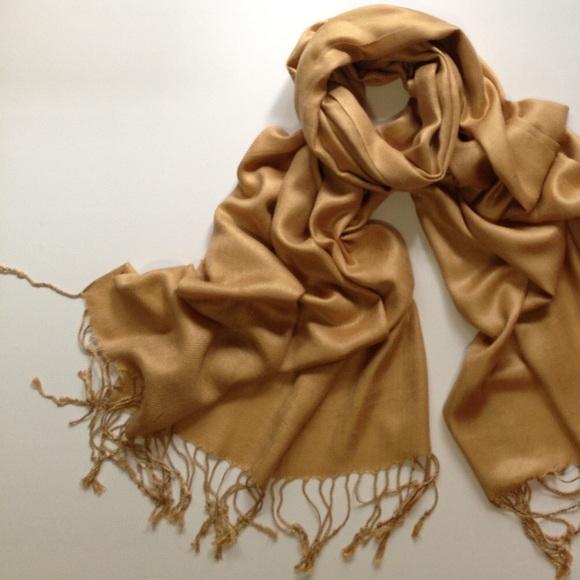 Pashmina Accessories Sale Gold Scarf Poshmark