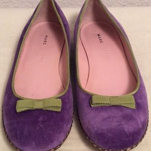 Marc Jacobs Shoes - Marc Jacobs Velvet/Grosgrain Flats