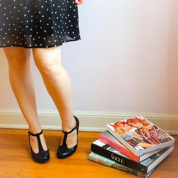 Crown Vintage T-Strap Heels