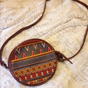 Boho circle purse