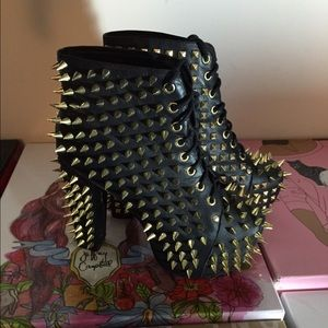 Jeffrey Campbell Shoes - Jeffrey Campbell Gold Spike Litas