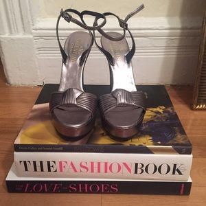 Valentino High Heel Silver Sandal, Size 40