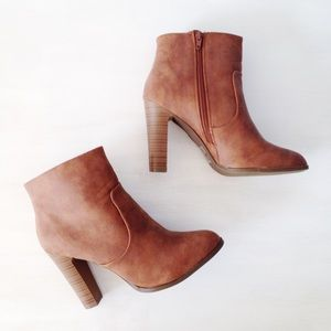 | new | cognac booties