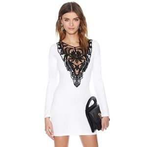Nasty gal cream/black dress