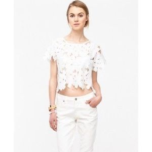 Nasty gal / need supply cut out petal crop top