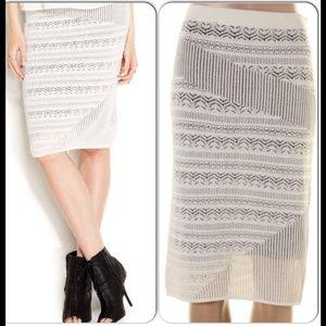 Rachel Roy Dresses & Skirts - Rachael Roy Body Con Contrast Knit Skirt