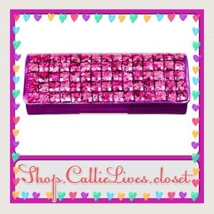 Callie Lives Handbags - Magenta 🎁 Sparkly Bling Rhinestone Purple Clutch