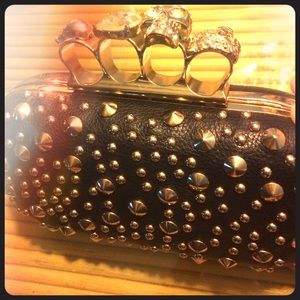 Studded Brass Knuckle Clutch Purse!❤️