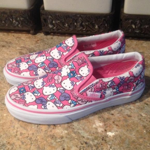 Womens Size 6 Hello Kitty Vans Slip Ons