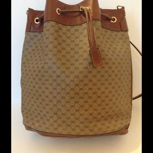 ab0b4109680d Gucci Bags | Brown Leather Bucket Bag 0011154793 | Poshmark