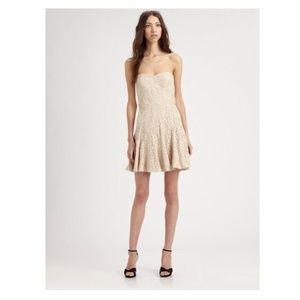 Bcbgmaxazria Lisanne lace bustier dress