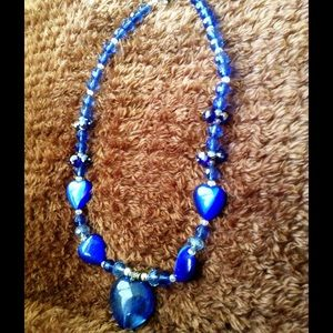 Jewelry - Ruby Blue Heart Necklace