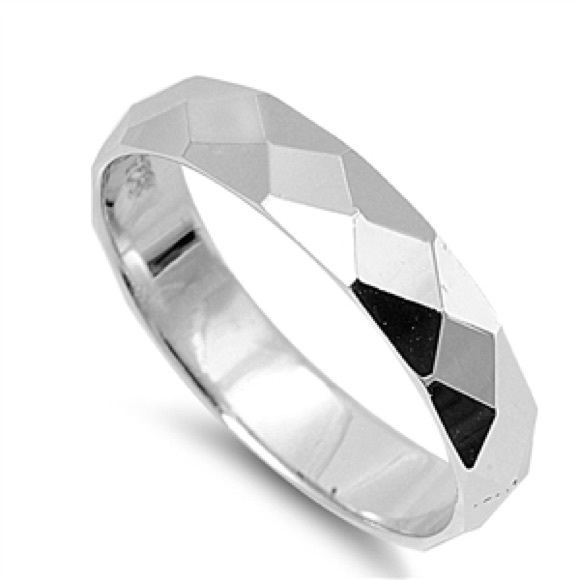 Stylish FAMA Solid Titanium Two Toned Black and Rose Gold IP Ring Band Size 8-12