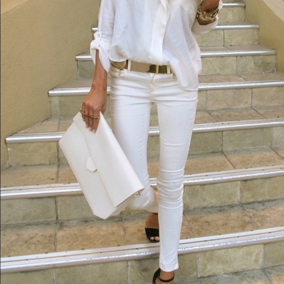 85% off Stradivarius Pants - 🎉🎉HS🎉🎉White pencil pants. from I ...