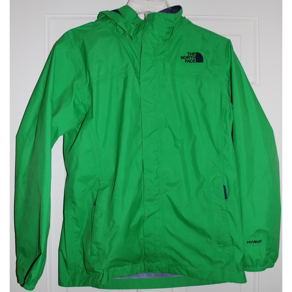Lime Green North Face Rain Jacket