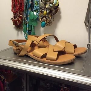 Tan kork ease sandals