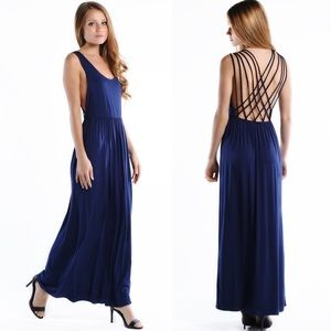 "LOWEST ""Safety Net"" Cross Back Maxi Dress"