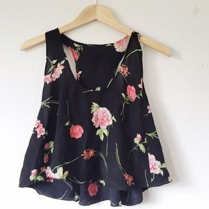 Nasty gal Floral swingy crop tank top