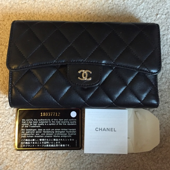 97ea2a497f69 CHANEL Bags | Authentic Lambskin Quilted L Flap Wallet | Poshmark