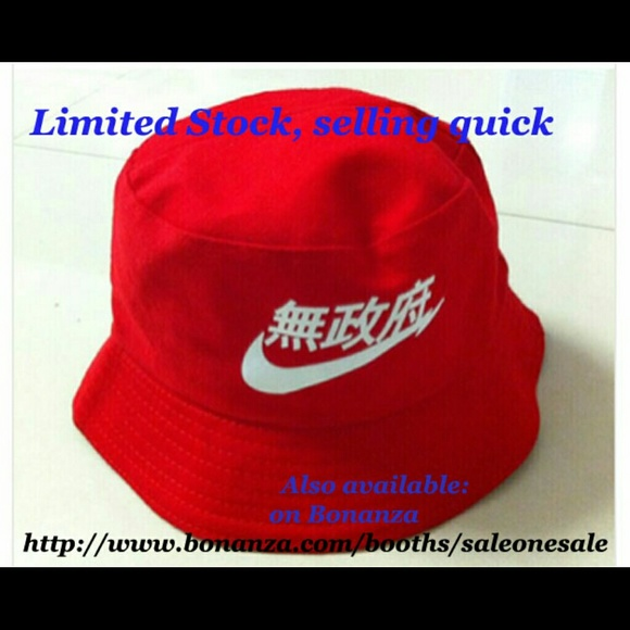 ffd02876eec4 Nike Accessories | Limited Red Japanese Bucket Hat | Poshmark