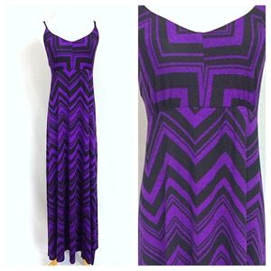*LAST ONE* Chevron Pattern Purple and Black Maxi