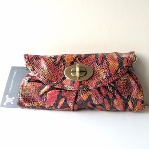 Carla Mancini Bags - Carla Mancini Soft Clutch - Multi Python Leather