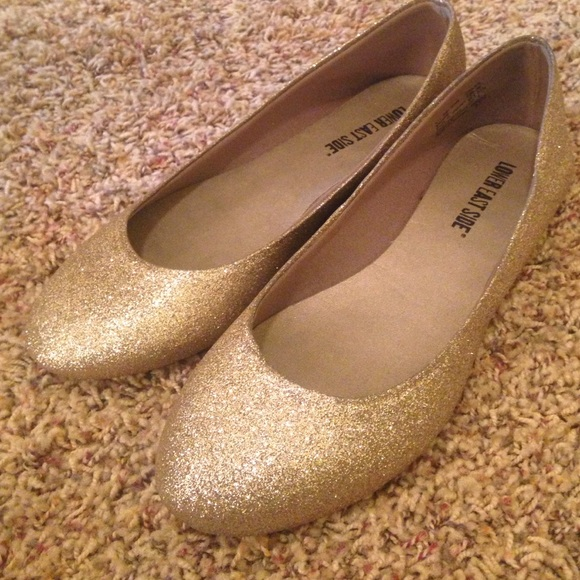 Shoes | Sparkly Gold Flats | Poshmark