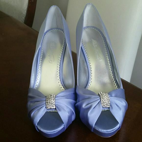 Davids Bridal Michaelangelo Lilac Peep Toe 9M