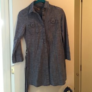 Anthropologie chambray long tunic/top